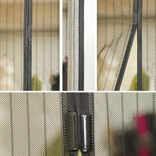 Moskitiera na drzwi z magnesami 206x100,5cm trwała i mocna