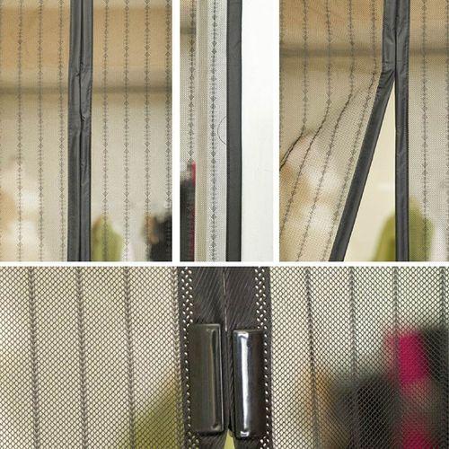 Moskitiera na drzwi z magnesami 206x100,5cm trwała i mocna na Arena.pl