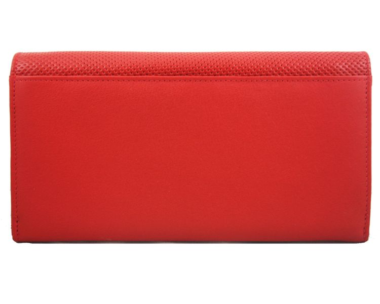 Długi, klasyczny portfel damski Samsonite, skórzany w kolorze czerwonym zdjęcie 3