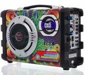 GŁOŚNIK Hi-Fi ODTWARZACZ MP3 RADIO KARAOKE 25W MIKROFONY zdjęcie 3