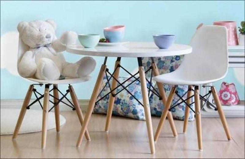 Krzesło Białe Dziecięce Nowoczesne Skandynawskie Dsw Dsr 071 1