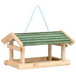 Karmnik dla ptaków, lite drewno, 35 x 29,5 x 21 cm