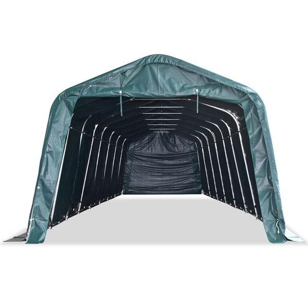 Przenośny namiot dla bydła, PVC, 3,3 x 12,8 m, ciemnozielony zdjęcie 4