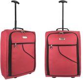 Walizka podróżna Bagaż podręczny TB53 Burgundowa