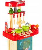 Kuchnia dla dzieci w walizce Piekarnik Zlew Akcesoria kuchenne U07 zdjęcie 9