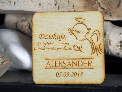 Podziękowanie dla gości ślub chrzest komunia kwadrat na Arena.pl
