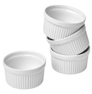 Formy do pieczenia ceramiczne 4 szt białe MUFINKI