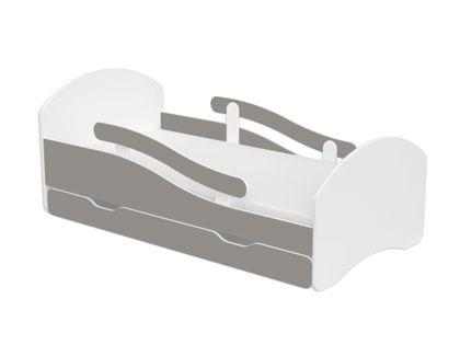 Łóżko dla chłopca dziewczynki 160x80 biały/szary szuflada materac