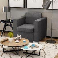 Fotel, ciemnoszary, tkanina