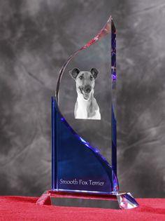 Foksterier krótkowłosy- Kryształowa statuetka z podobizną psa.