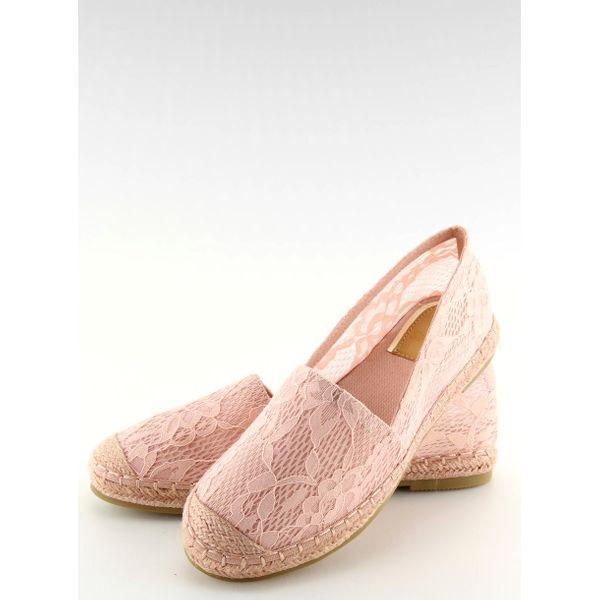 Espadryle koronkowe różowe BB15P Pink r.36 zdjęcie 5