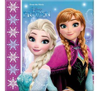Serwetki Frozen Kraina Lodu Roczek Urodziny 20szt