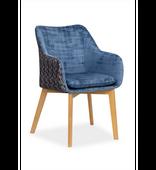 Krzesło DIAMENTE niebieski