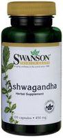 Ashwagandha Żeń-szeń indyjski SWANSON STRES Przemęczenie