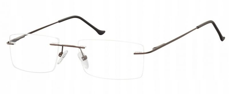 Bezramkowe okulary oprawki okularowe unisex brąz zdjęcie 1