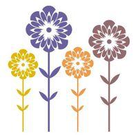 Szablon do malowania FL5-89 wielokrotny, kwiatki Rozmiar - L, Szablon - Samoprzylepny, Odbicie lustrzane - Nie
