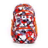 Plecak szkolny print pomarańczowy