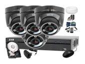 Zestaw do monitoringu: BCS-XVR0801-III+ 4x Kamera BCS-DMQE3200IR3+ Dysk 1TB + Akcesoria