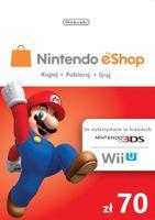 Nintendo 70zł eShop Karta Kod Prepaid Klucz Wii