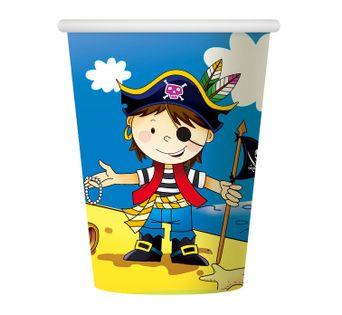 Kubeczki Pirat dla chłopca Roczek Urodziny 6szt