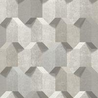 Tapeta Kamień Beton Przestrzenne Bryły Efekt 3D L77907 Ugepa