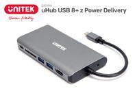 Unitek HUB 8w1 USB3.1 Typ-C z Power Delivery 100W