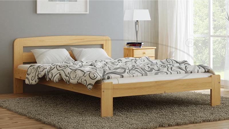 łóżko Drewniane Sosnowe Sara 140x200 Materac Piankowy Megana