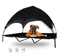Legowisko dla psa na nóżkach z daszkiem łóżko XL CZARNE 17220-2
