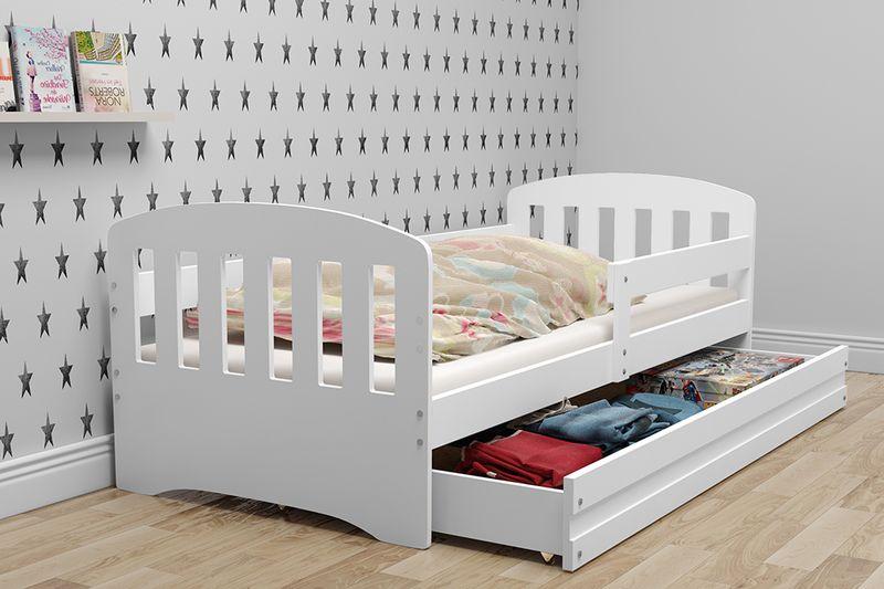 Łóżko dla dzieci HAPPY dziecięce 160x80  + SZUFLADA + MATERAC zdjęcie 3