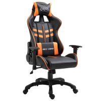 Fotel dla gracza, pomarańczowy, sztuczna skóra