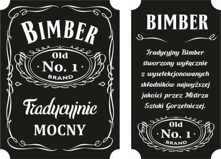 16x Etykiety nalepki na BIMBER wódkę alkohol naklejki na butelki