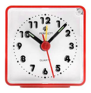 Perfect RF Budzik wskazówkowy, głośny alarm, funkcja drzemki, podświetlenie, szerokość ok. 6 cm