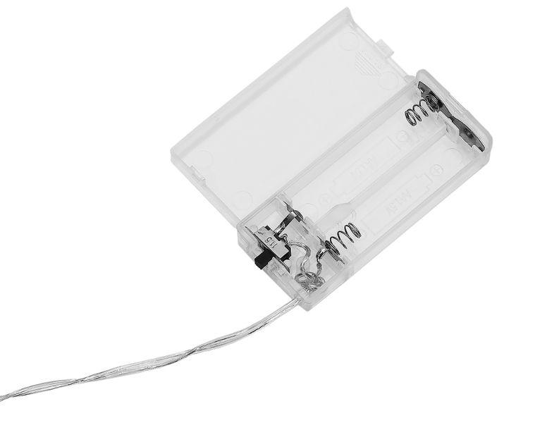 Lampki Choinkowe Gwiazdki 10 Led Na Baterie Ciepłe 7107