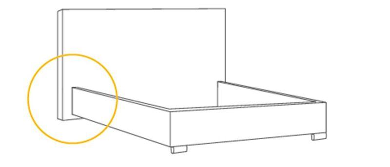 Łóżko tapicerowane STORIE 160x200+ Stelaż zdjęcie 7