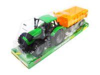 Długi Traktor Wiejski Przyczepą Dwa Kolory 53 cm
