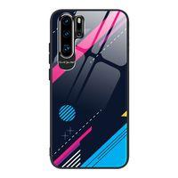 Color Glass Case Etui Pokrowiec Nakładka Ze Szkła Hartowanego Z Osłoną Na Aparat Huawei P30 Pro Pattern 4