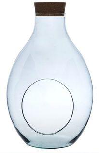 Szklane terrarium W-379B+otwór boczny+korek H:50cm D:29cm