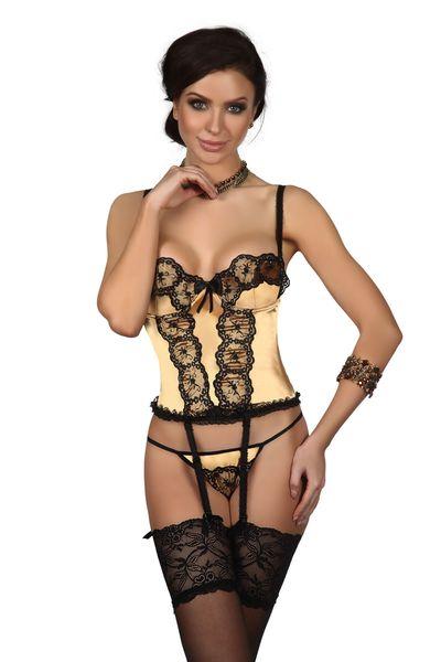 cce8e5a43ac71f Seksowny gorset+pas złoty bielizna erotyczna Beauty Night S/M • Arena.pl