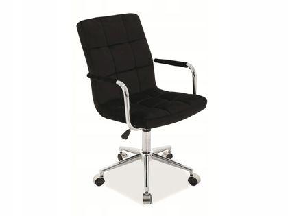 Fotel Q-022 do biurka VELVET CZARNY obrotowy