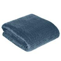 Koc narzuta na łóżko CINDY-3 150x200 niebieski