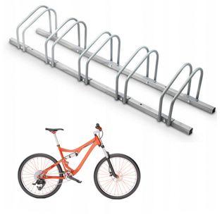 Stojaki Stojak Metalowy 5 Stanowiska na Rower  + zestaw montażowy