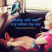 Uchwyt na zagłówek Baseus Backseat dla tabletów i smartfonów (srebrny) zdjęcie 2