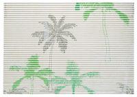Mata łazienkowa antypoślizgowa SLOANE 65 x 45 cm pianka PVC wz. 5 palmy zielony beżowy