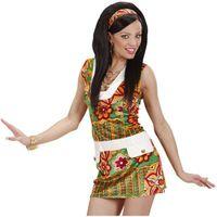 STRÓJ hipiski HIPISKA sukienka w kwiaty LATA 60 S