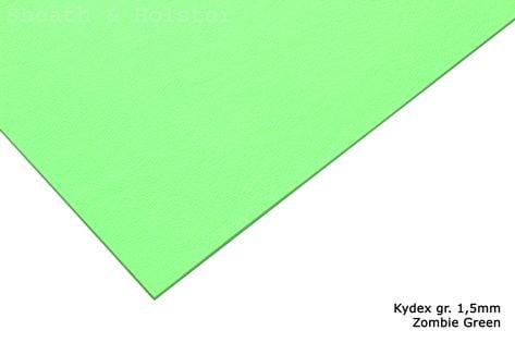 Kydex Zombie Green - 200x300mm gr. 1,5mm