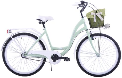 (K30) Rower miejski damski Kozbike 28 miętowo-biały