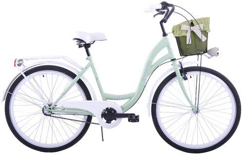 (K30) Rower miejski damski Kozbike 28 miętowo-biały na Arena.pl