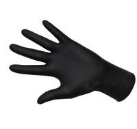 Rękawiczki Nitrylowe 100szt  Czarne r. L