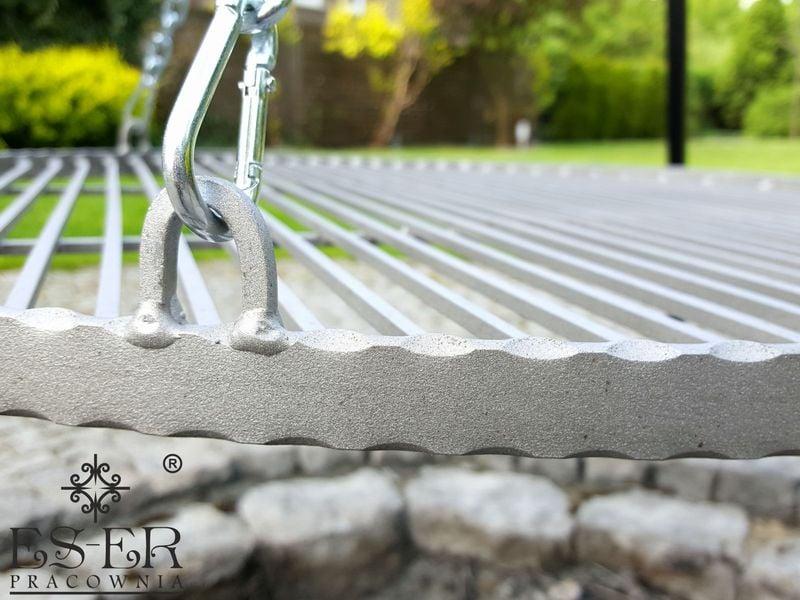 Grill ogrodowy na trójnogu PIOTR z rusztem stalowym 70 cm ES-ER zdjęcie 6