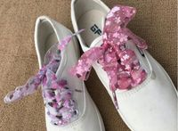 Sznurówki Kwiatki Kolorowe  Wstążki